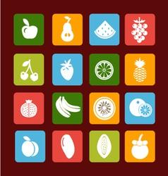fruit icon set - vector image