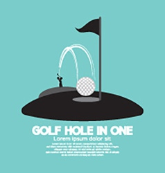 Golf Hole in One Sport Symbol vector image