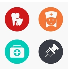 modern medicine colorful icons set vector image