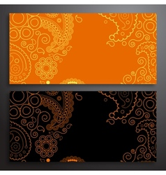 Retro pattern of shapes vector image vector image