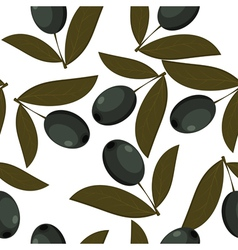 Seamless texture of black olives vector image vector image