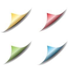Set of bent page corners vector image
