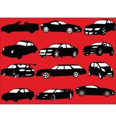 cars collection - vector image
