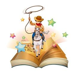 Cowboy Book vector image