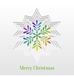 Creative Christmas Snowflake Greeting Card vector image vector image