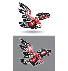 eagle in native american style vector image
