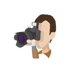 Photographer icon cartoon style vector image