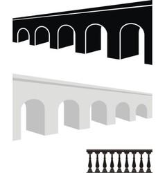 stone bridge and balustrade vector image