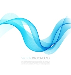 Abstract template background with blue curved wave vector image vector image