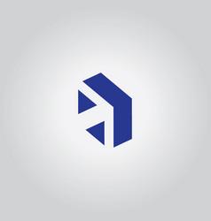 arrow symbol logo vector image