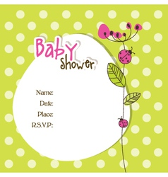 Baby shower car vector image vector image