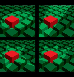 cube light vector image vector image