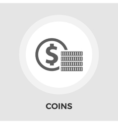 Dollar coin flat icon vector image vector image