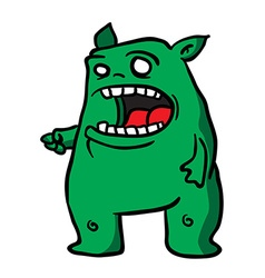 green monster 1 vector image vector image