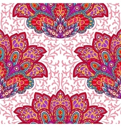 Indian ethnic seamless pattern with hand drawn vector image vector image