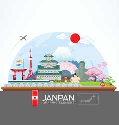 janpan infographic travel place and landmark vector image vector image
