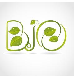 Logo bio vector image vector image
