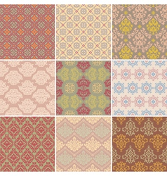 set of seamless background vector image vector image