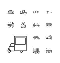 13 auto icons vector