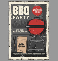 5 july barbecue and burger grill cookout party vector image