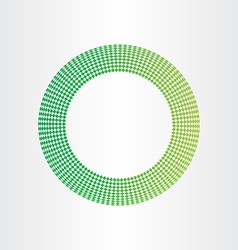 abstract green circle background with squares vector image