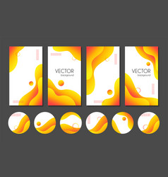 Abstract liquid yellow stories templates vector