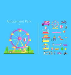 amusement park collection vector image