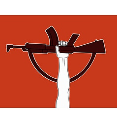 Armed revolution vector image