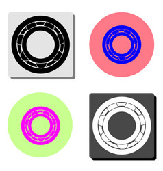 bearing flat icon vector image