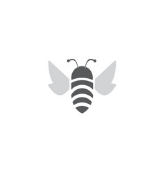Bee flat open wings and fly for logo design vector