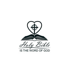 bible crown thorns and heart vector image