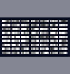 big set silver gradients vector image