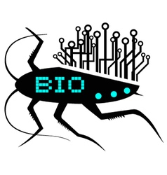 Bio insect icon vector