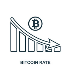 bitcoin rate decrease graphic icon mobile app vector image