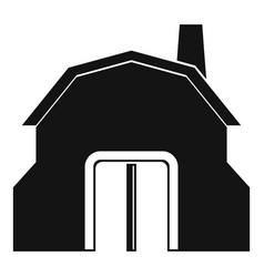 blacksmith workshop building icon simple vector image