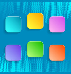 Blank colorful buttons vector