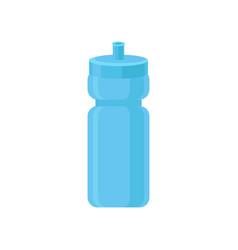 Blue plastic reusable water bottle drink bottle vector