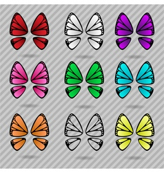 Butterfly wings collection vector