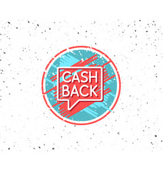 cashback service line icon money transfer vector image