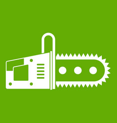 chainsaw icon green vector image