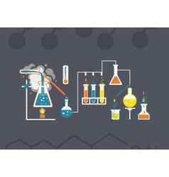 Chemistry infographics template vector image