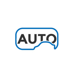 clean automotive car logo icon design template vector image