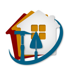 construction of houses vector image