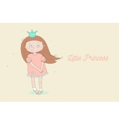 Creative little princess vector image vector image