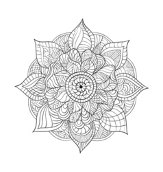 Decorative Mandala for adults coloring books vector