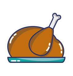 delicious chicken food roast taste vector image