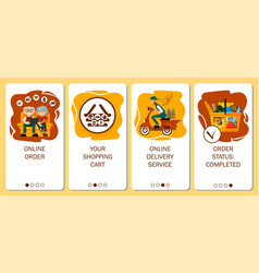 design mobile app order grocery in online store vector image