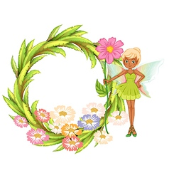 Fairy Floral Laurel vector image