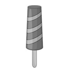 Fruit ice cream icon gray monochrome style vector