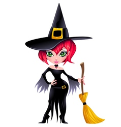 Funny witch vector